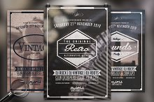 Vintage Night  | 3in1 Flyer Template