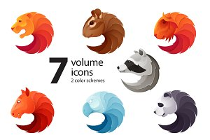 7 animals icons
