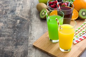Fresh fruit smoothies