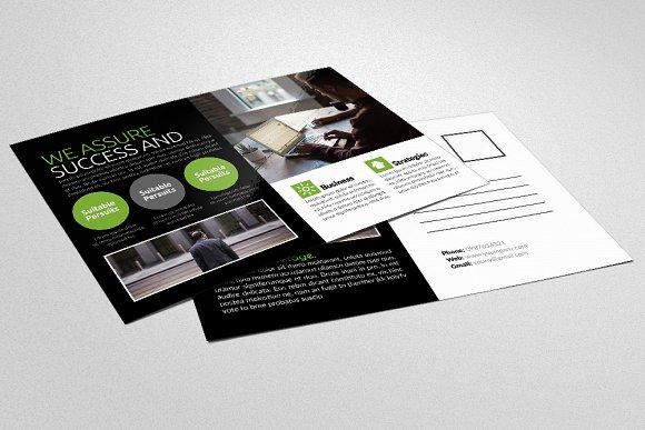 Social Network Business Postcard Card Templates Creative Market
