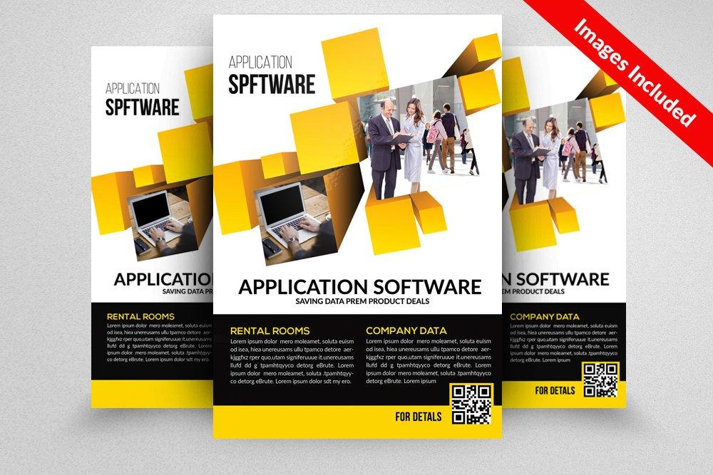 software brochure template - application software flyer template flyer templates