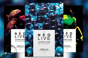 Neo Live | 3in1 Flyer Template