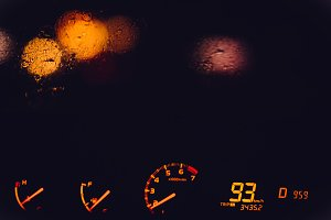 Night Road track and led speedometer