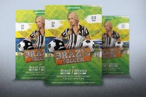 Flyer Brazil Soccer