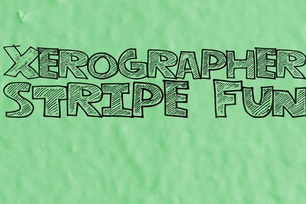Non Western Fonts: xero fonts - StripeFun