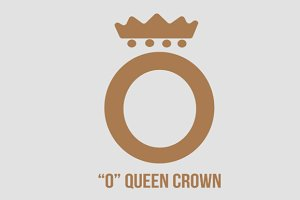"""O"" Queen Crown Logo"