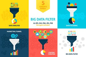 Big Data Filter Vector Concepts