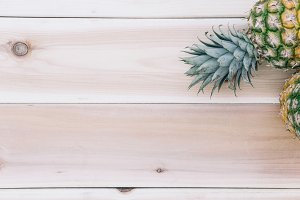 Pineapple and Wood Background 10