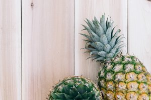 Pineapple and Wood Background 9