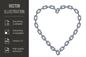 Chain silver heart.