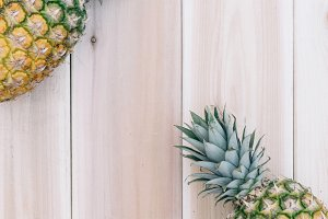 Pineapple and Wood Background 7