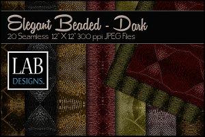 20 Dark Beaded Fabric Textures