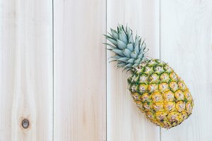 Pineapple and Wood Background  3