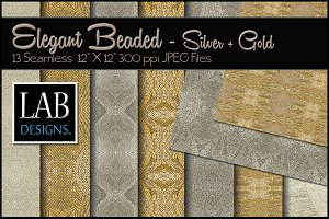 13 Silver & Gold Beaded Textures