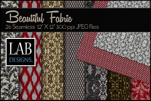 26 Red Gold & Black Fabric Textures
