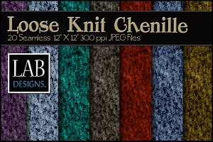 20 Loose Knit Chenille Textures