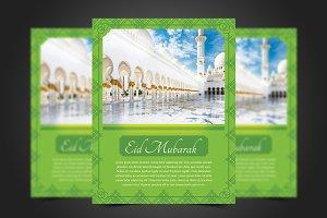 Eid-Al-Fitr Mubarak Flyer Template