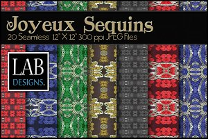 20 Sequins Trimmed Fabric Textures
