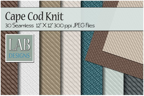 30 Seamless Knit Fabric Textures