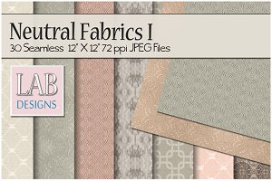30 Seamless Neutral Fabric Textures