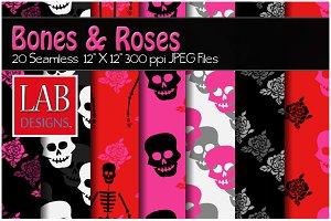 20 Bones & Roses Rockabilly Textures