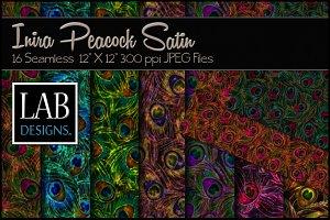 16 Satin Peacock Print Textures
