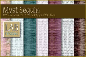 12 Seamless Sequins Fabric Textures