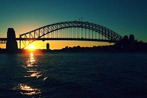 Harbour Bridge in Sunset