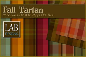 24 Fall Tartan Plaid Fabric Textures