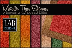 24 Metallic Shimmer Fabric Textures