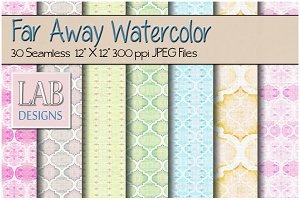 30 Watercolor Pattern Paper Textures
