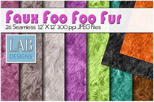 26 Bright Color Faux Fur Textures