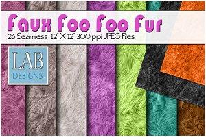 26 Bright Color Faux Fur Textures