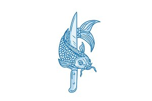 Koi Nishikigoi Carp Fish Knife