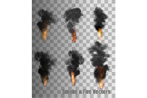 Smoke And Fire Vectors