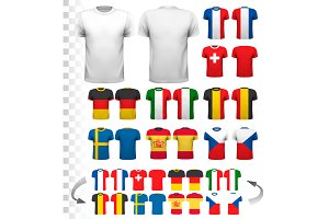 Collection Of Various Soccer Jerseys
