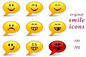 Set of original smile icons - smiles