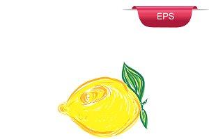 lemon, sketch style