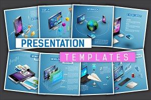 Isometric presentation templates