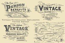 Vintage Typographic Ornaments
