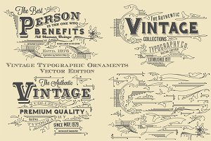 Vintage Typographic Ornaments