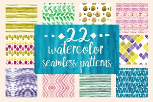 22 Watercolor patterns