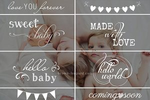 Newborn Photo Overlays vol. 2