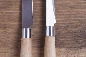 Knives with wooden handle