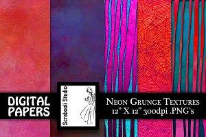 Neon Grunge Textures