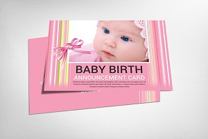 Baby Birth Announcement Postcard