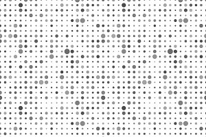 Gray dots on white, seamless pattern