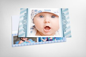 Swirls Baby Announcement Postcard