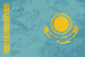 True proportions Kazakhstan flag
