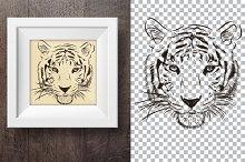 Tiger hand drawn print 1.